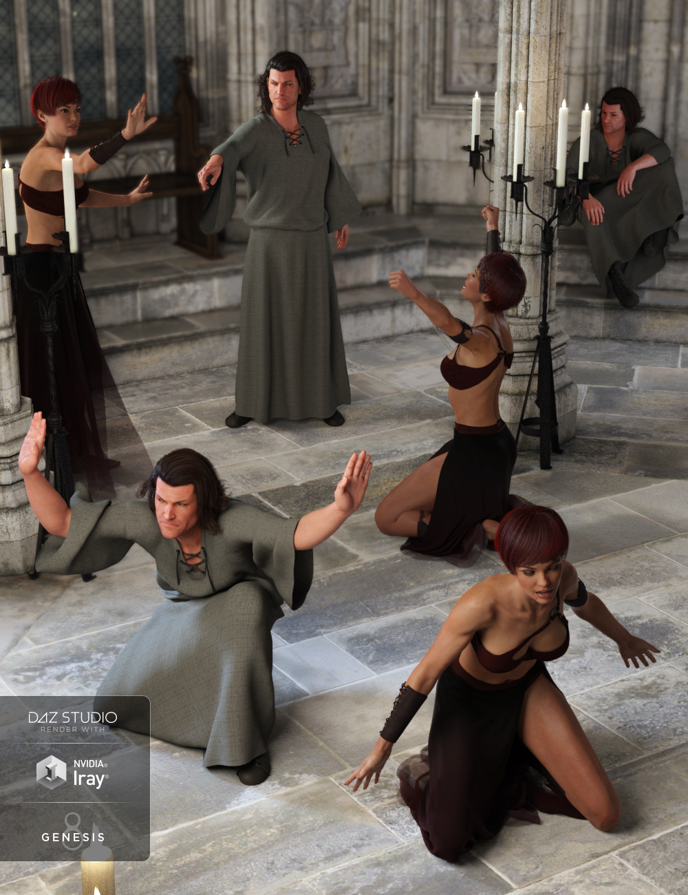 Winterblack The Rites Poses for Genesis 8 by: DianePredatron, 3D Models by Daz 3D