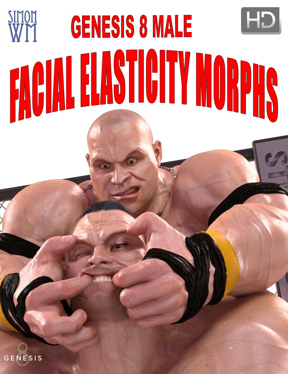 Genesis 8 Male Facial Elasticity Morphs by: SimonWM, 3D Models by Daz 3D