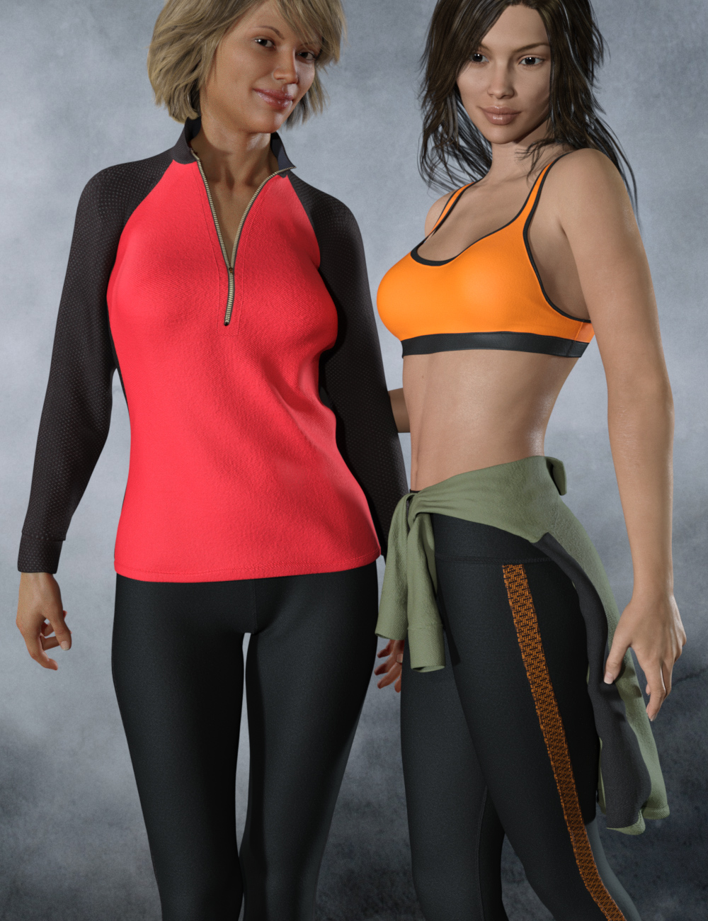 dForce Tek Athletic Apparel for Genesis 3 and 8 Female(s) by: the3dwizard, 3D Models by Daz 3D