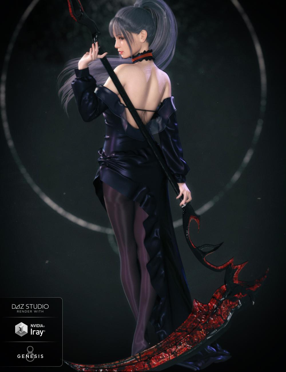 Maris and Maris Hair for Genesis 8 Female(s) by: Crocodile Liu, 3D Models by Daz 3D