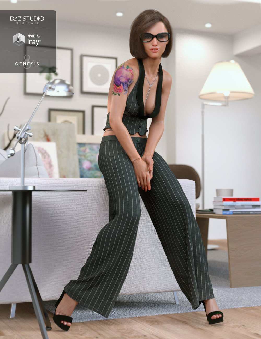 dForce City Seduction Outfit for Genesis 8 Female(s) by: CynderBlue, 3D Models by Daz 3D