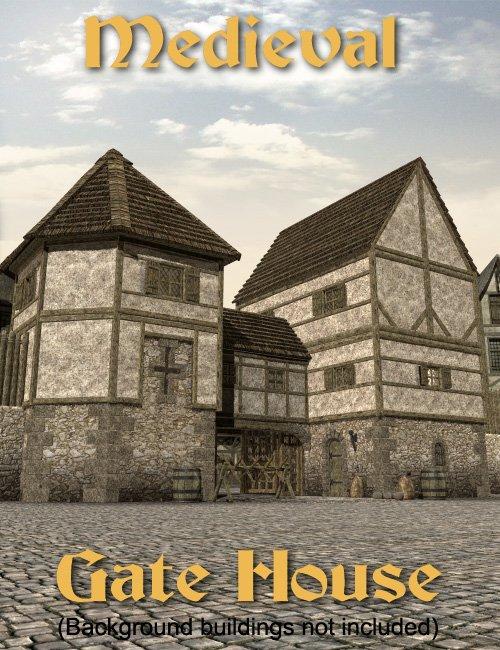 Medieval Gatehouse by: Faveral, 3D Models by Daz 3D
