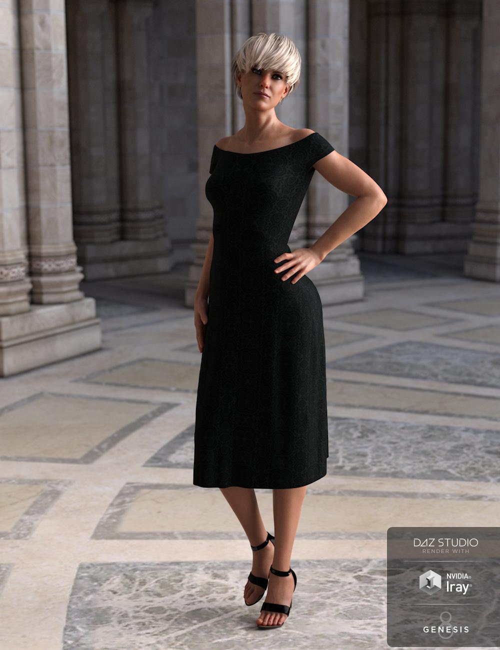 dForce Summer Dress Venice for Genesis 8 Female(s) by: Aquarius, 3D Models by Daz 3D