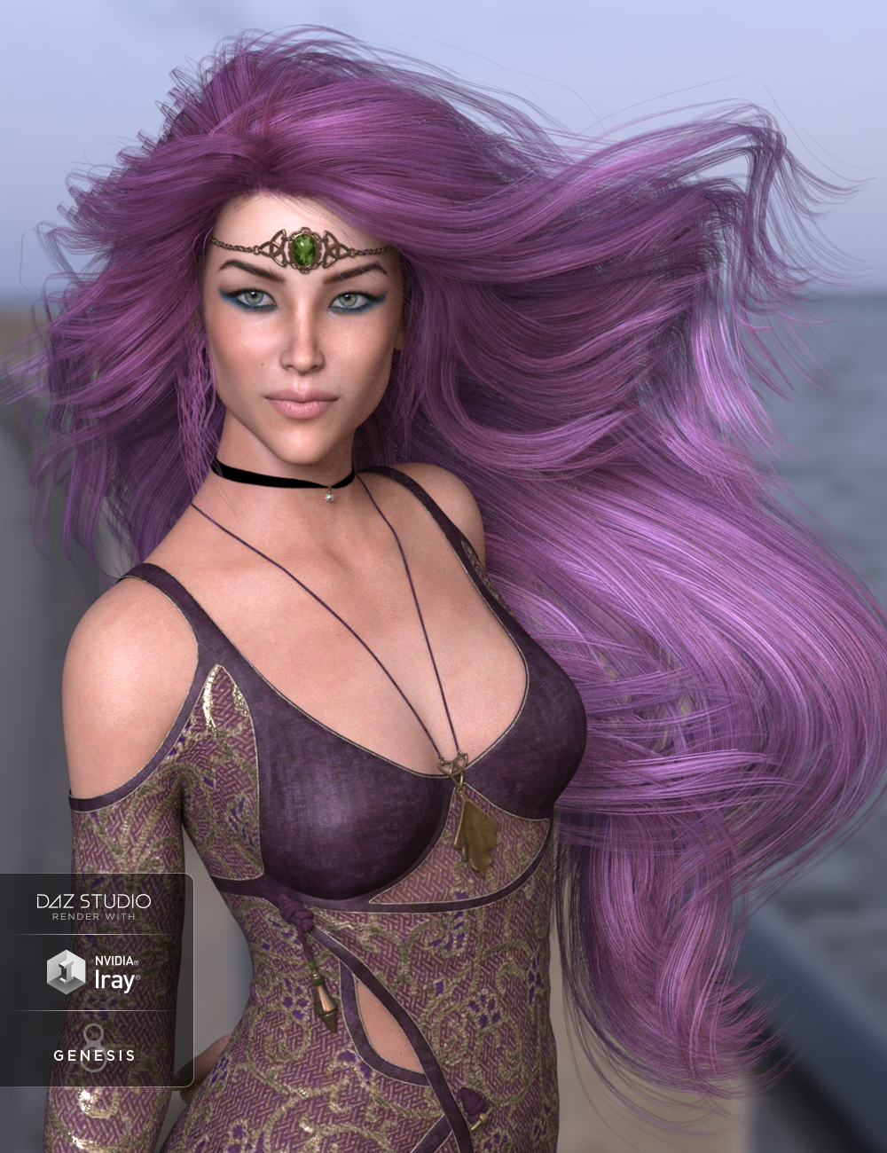 Leni Hair for Genesis 3 and 8 Female(s) by: SWAM, 3D Models by Daz 3D