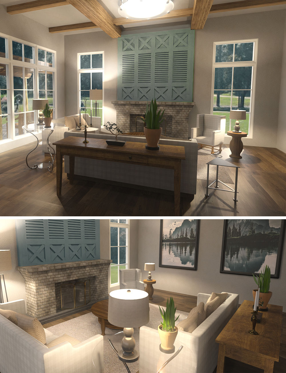 Louisiana Living Room by: kubramatic, 3D Models by Daz 3D