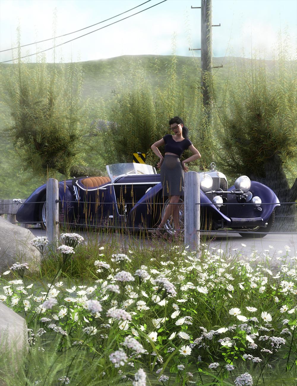 Roadside Flowering Plants for Daz Studio and Iray by: MartinJFrost, 3D Models by Daz 3D