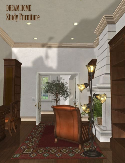 Dream Home : The Study Furniture by: , 3D Models by Daz 3D