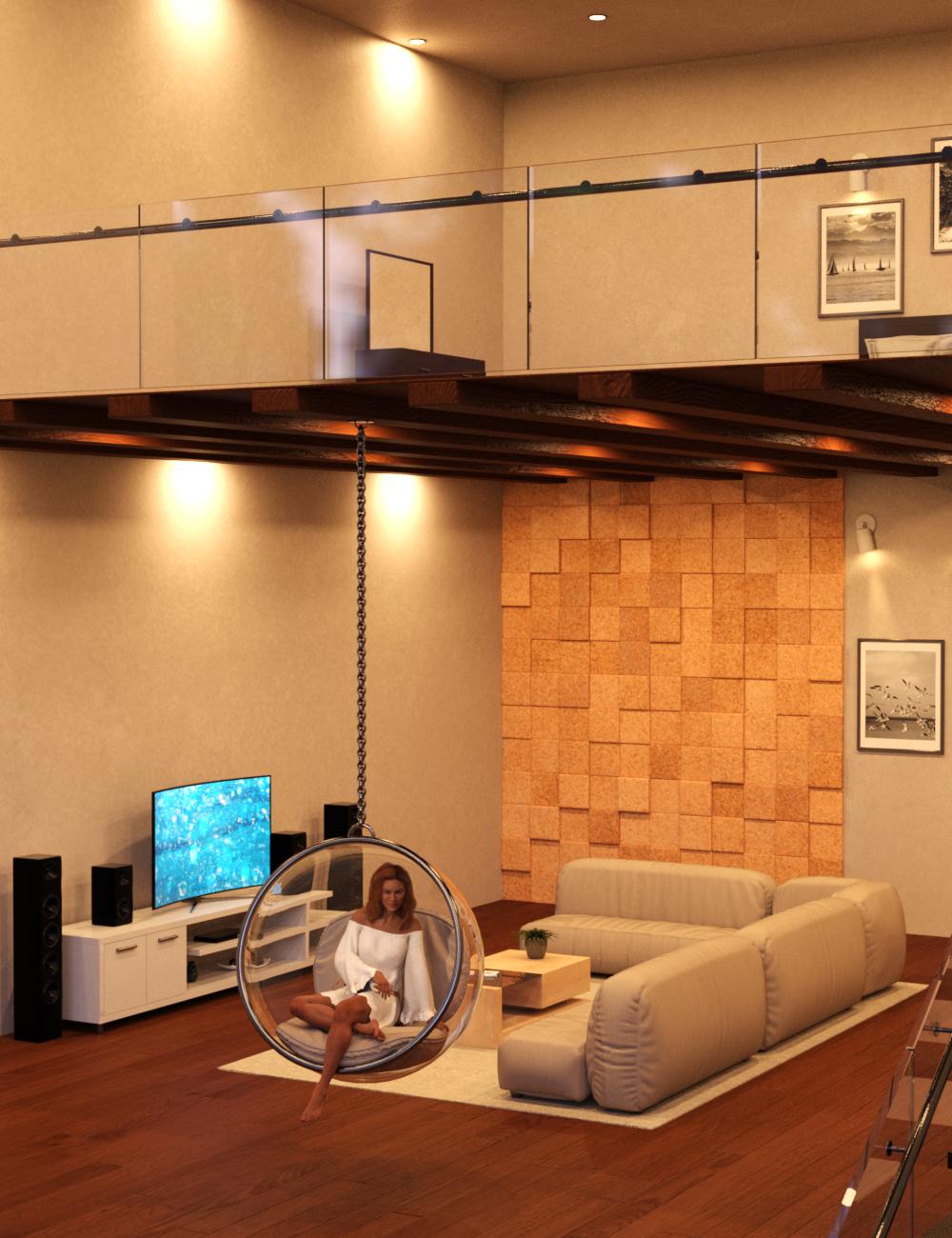 Duplex Living by: Charlie, 3D Models by Daz 3D