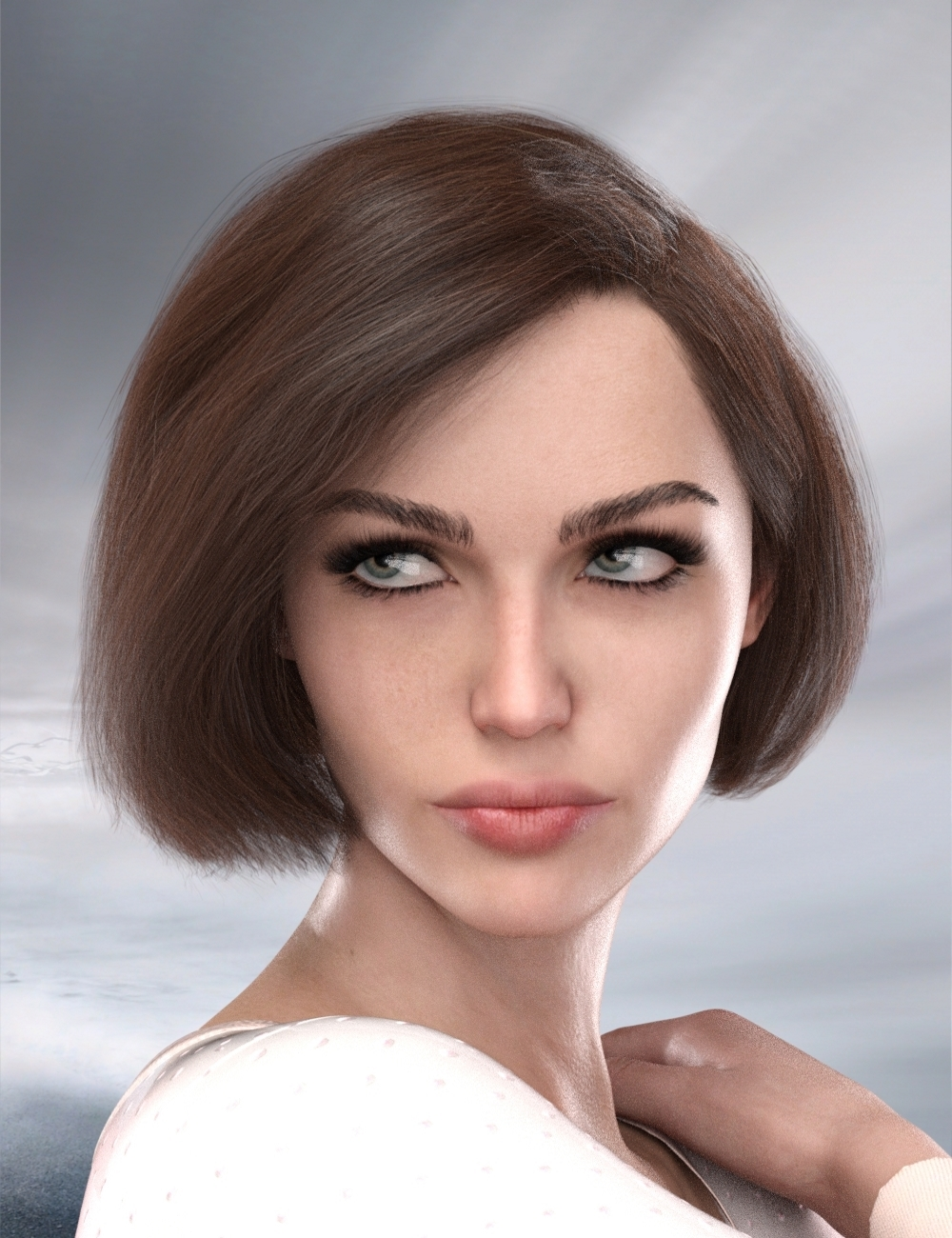 Cute Bob Hair for Genesis 3 and 8 Female(s) by: RedzStudio, 3D Models by Daz 3D