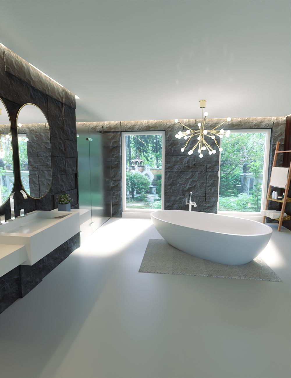 Modern Euro Bathroom by: kubramatic, 3D Models by Daz 3D
