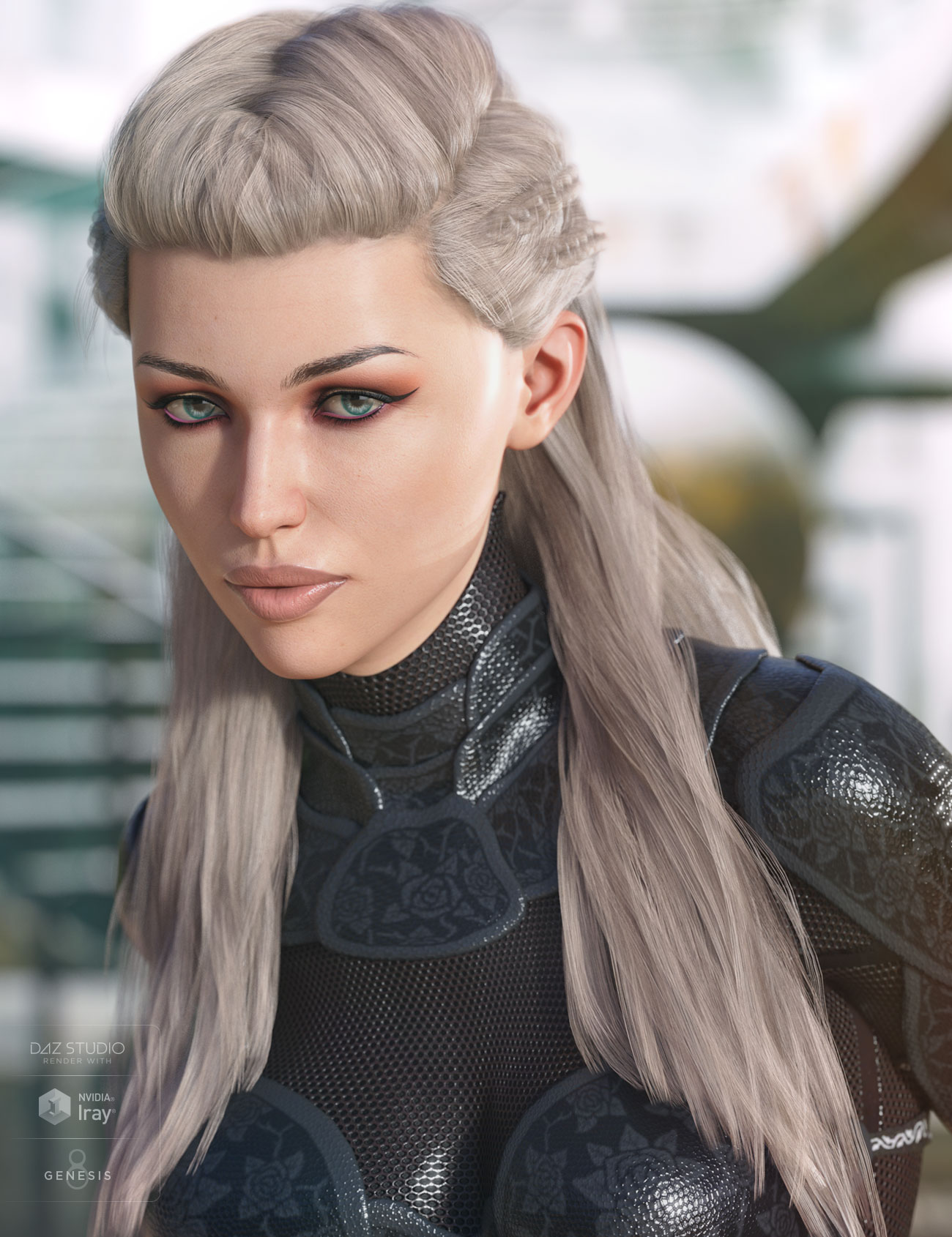 Evelyn Hair for Genesis 3 & 8 Female(s) by: AprilYSH, 3D Models by Daz 3D