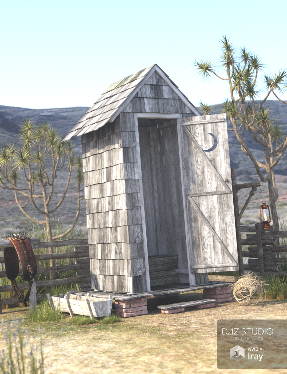 Wild West Outhouse by: Merlin Studios, 3D Models by Daz 3D