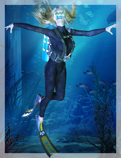 V4 Diving Gear by: , 3D Models by Daz 3D