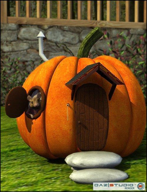 Roses Garden: Pumpkin House by: Rosetta, 3D Models by Daz 3D