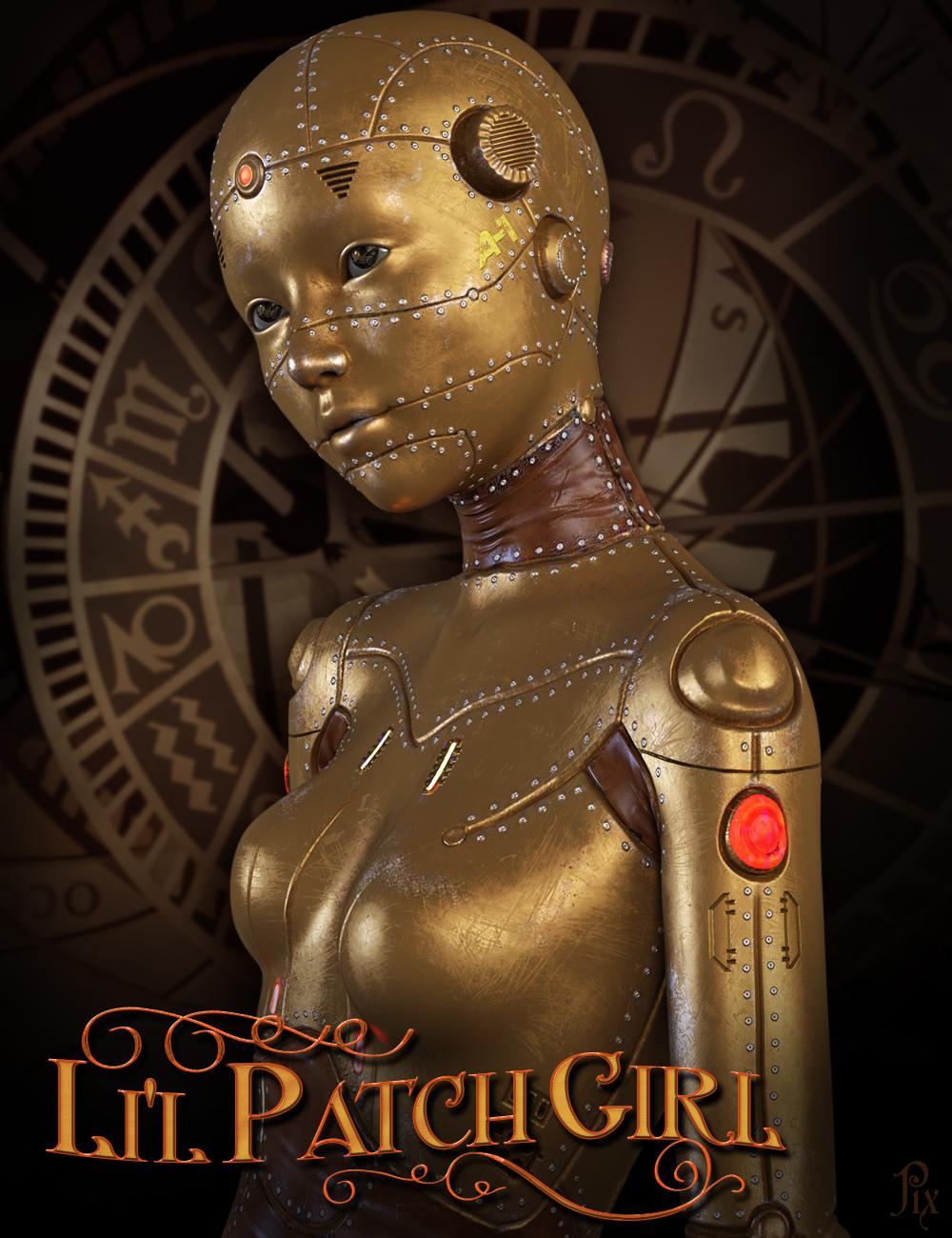 Li'l Patch Girl HD for Genesis 8 Female by: Pixelunashadownet, 3D Models by Daz 3D
