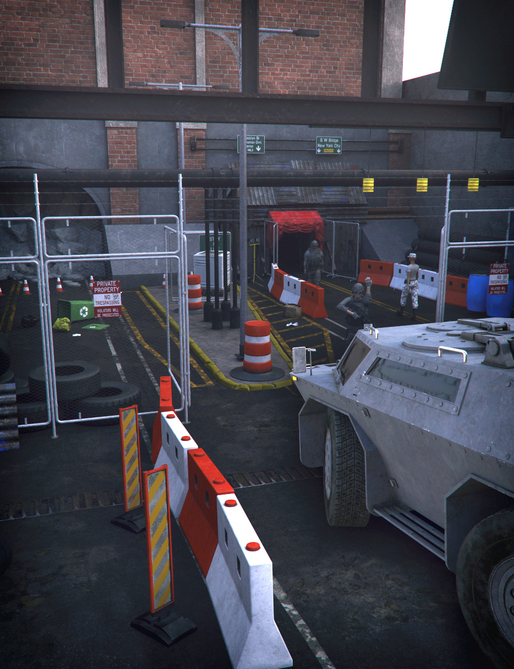 Damaged Tunnel Entrance by: Mely3D, 3D Models by Daz 3D