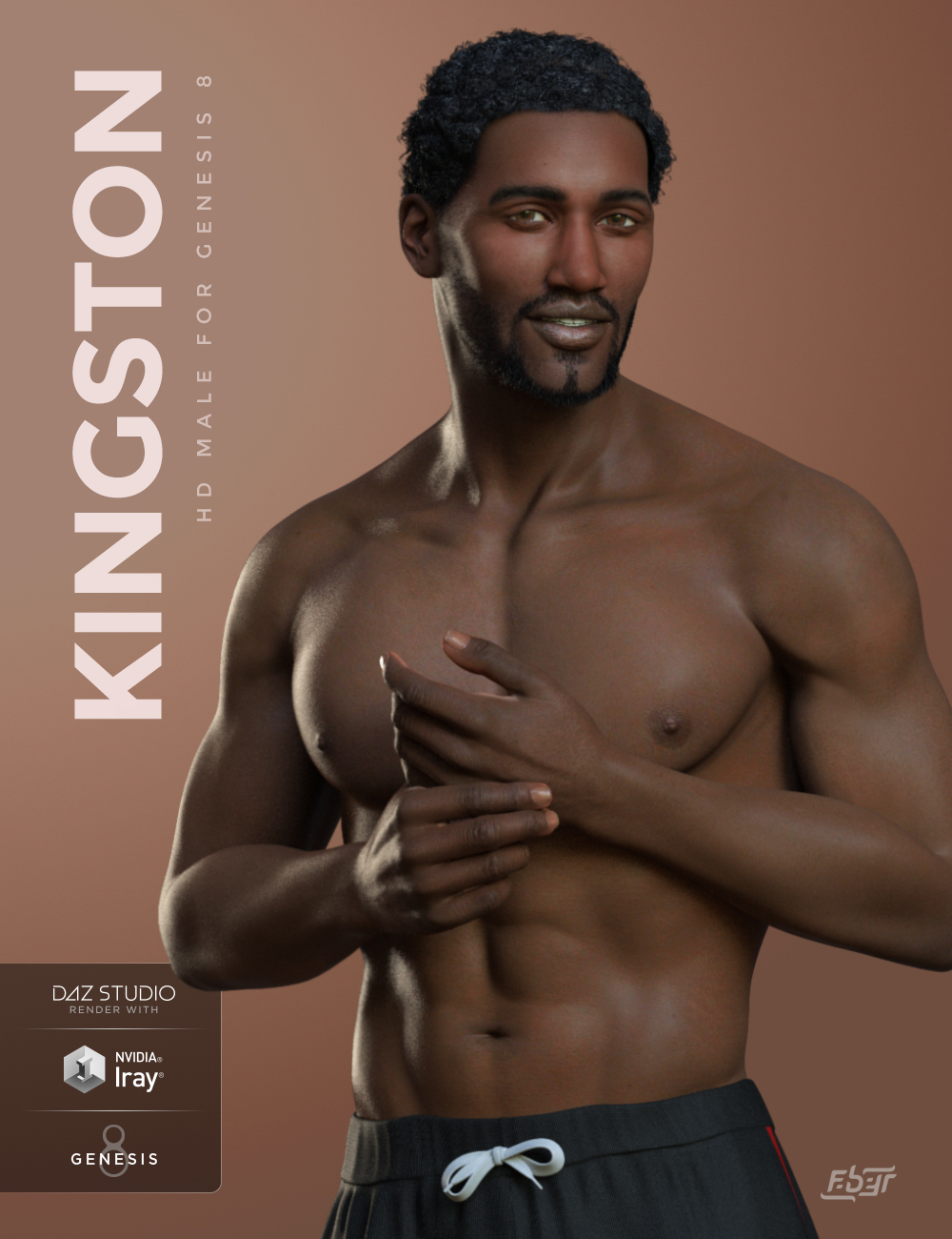 Kingston for Genesis 8 Male by: Faber Inc, 3D Models by Daz 3D