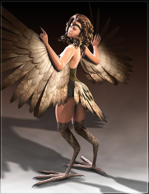 Creatura- The Harpy for Victoria 4 by: MABWillDupre, 3D Models by Daz 3D