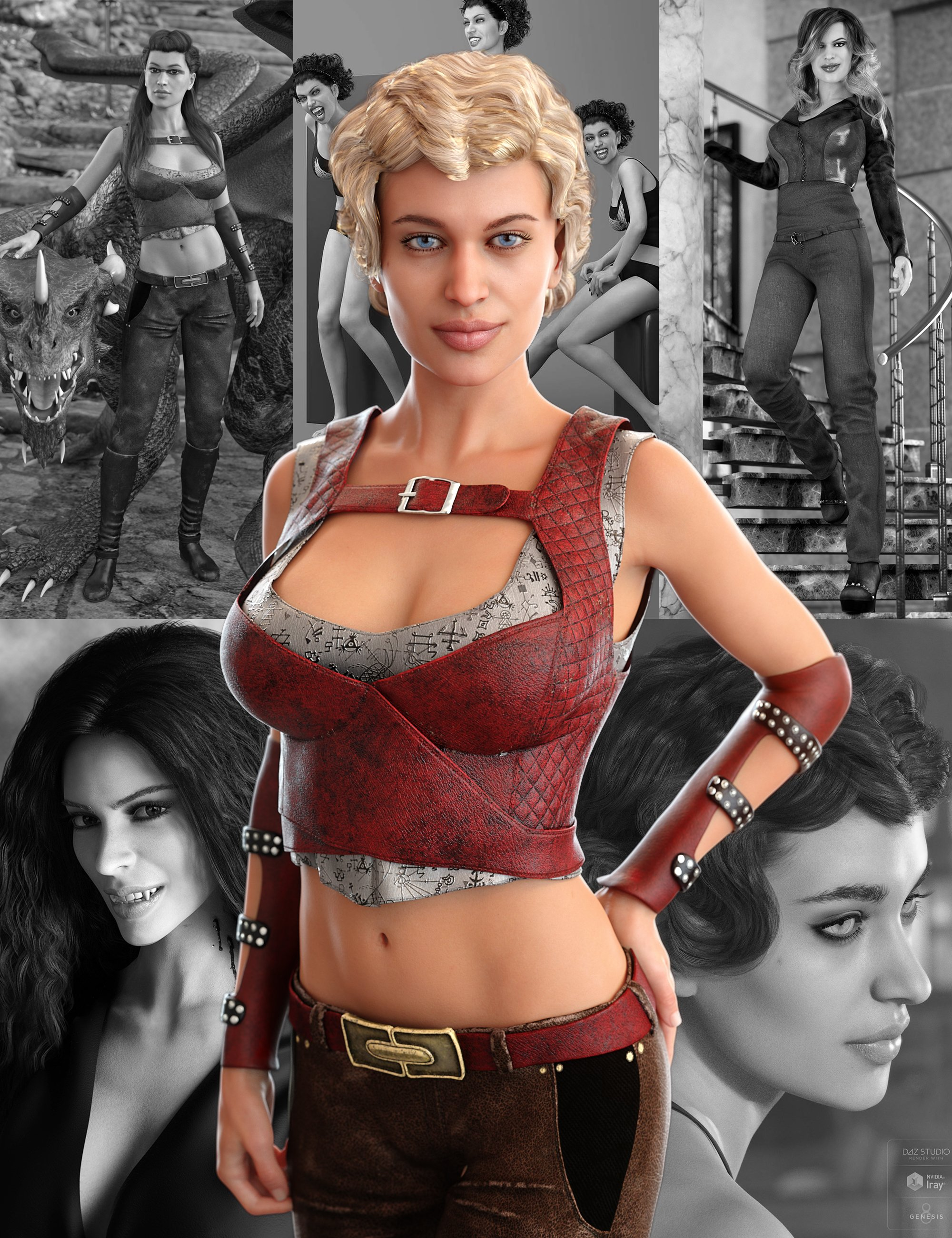 Tasha 8 Starter Bundle by: , 3D Models by Daz 3D