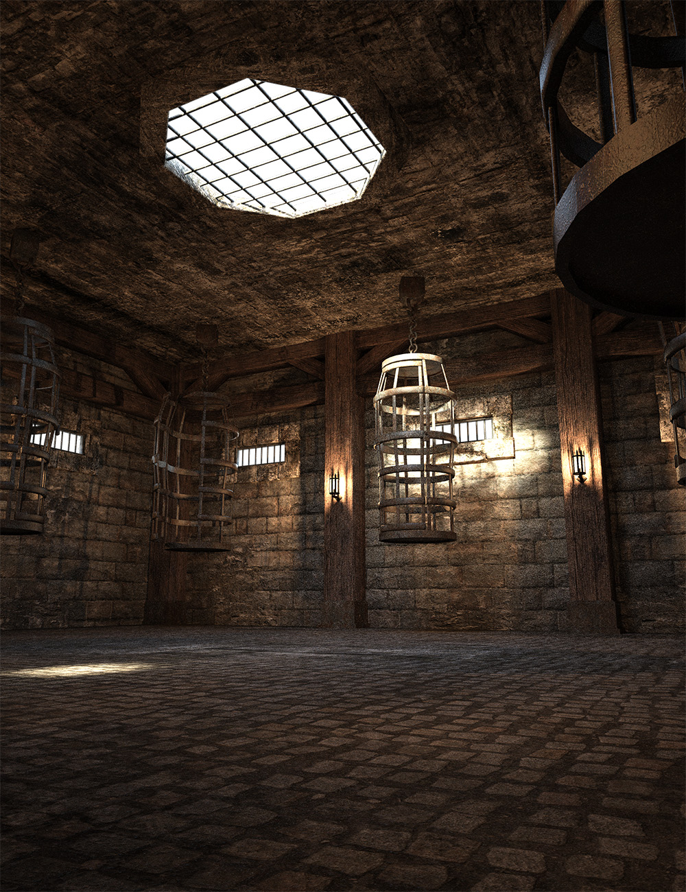 Fantasy Prison Cages by: , 3D Models by Daz 3D