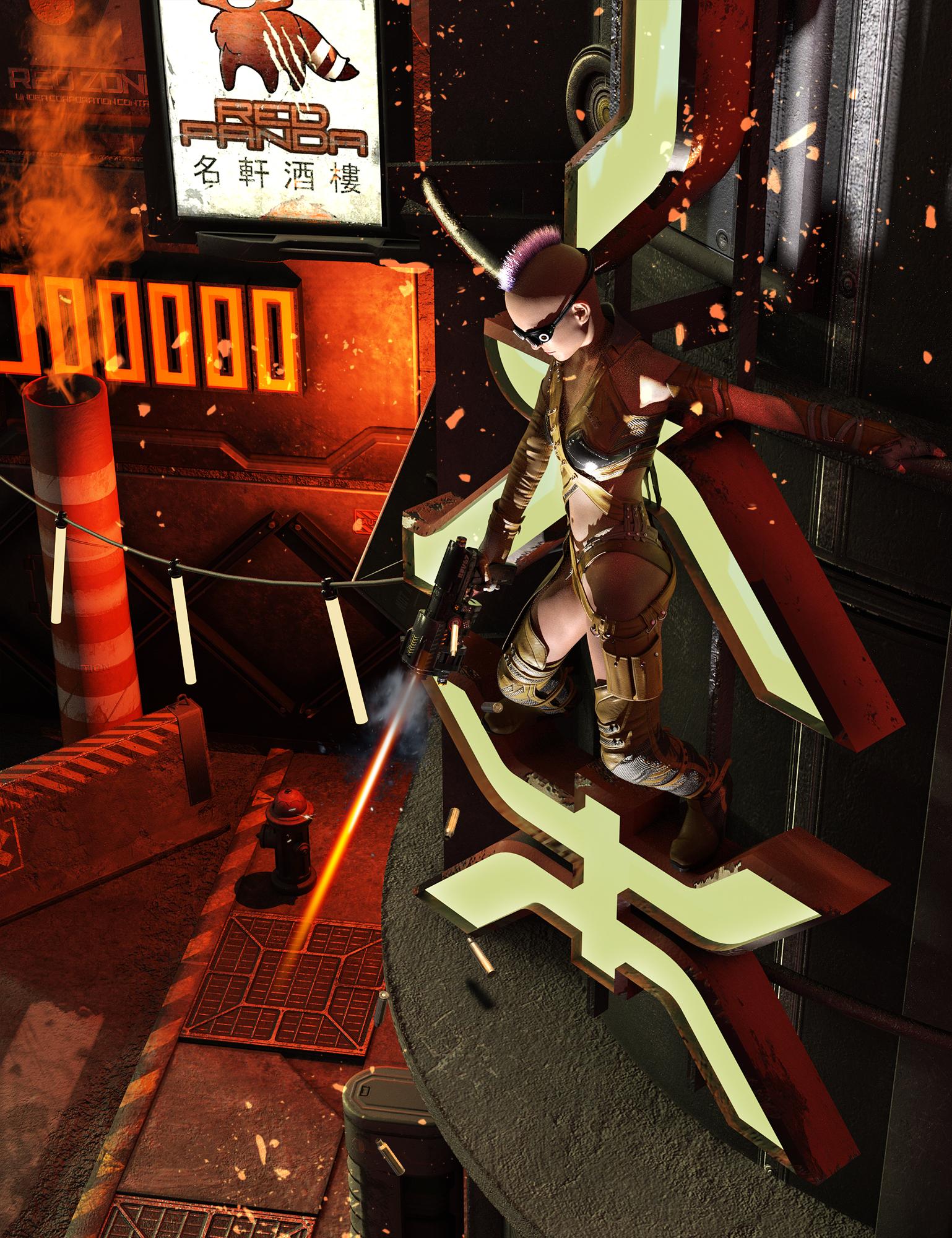 Sci-Fi Corner by: The AntFarm, 3D Models by Daz 3D