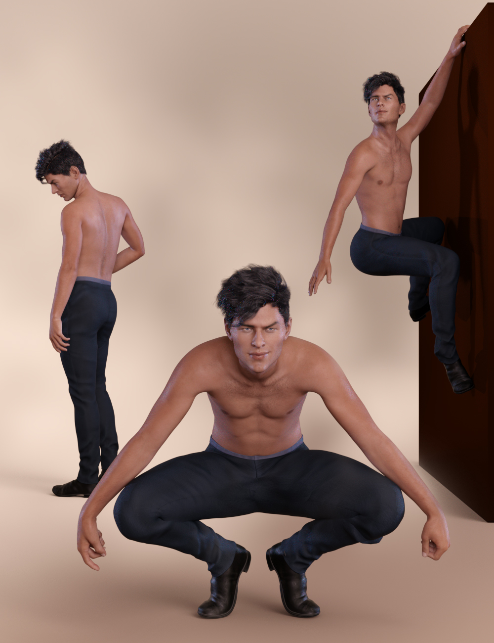 Bold Poses and Expressions for Nix 8 and Genesis 8 Male by: lunchlady, 3D Models by Daz 3D