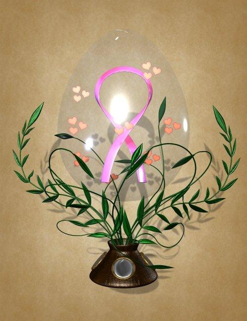 Breast Cancer Research Russian Egg by: Liquid RustKymJpdxjimsRosetta, 3D Models by Daz 3D