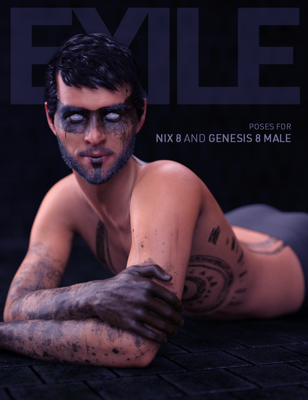 Exile Poses for Nix 8 and Genesis 8 Male by: Shimuzu, 3D Models by Daz 3D
