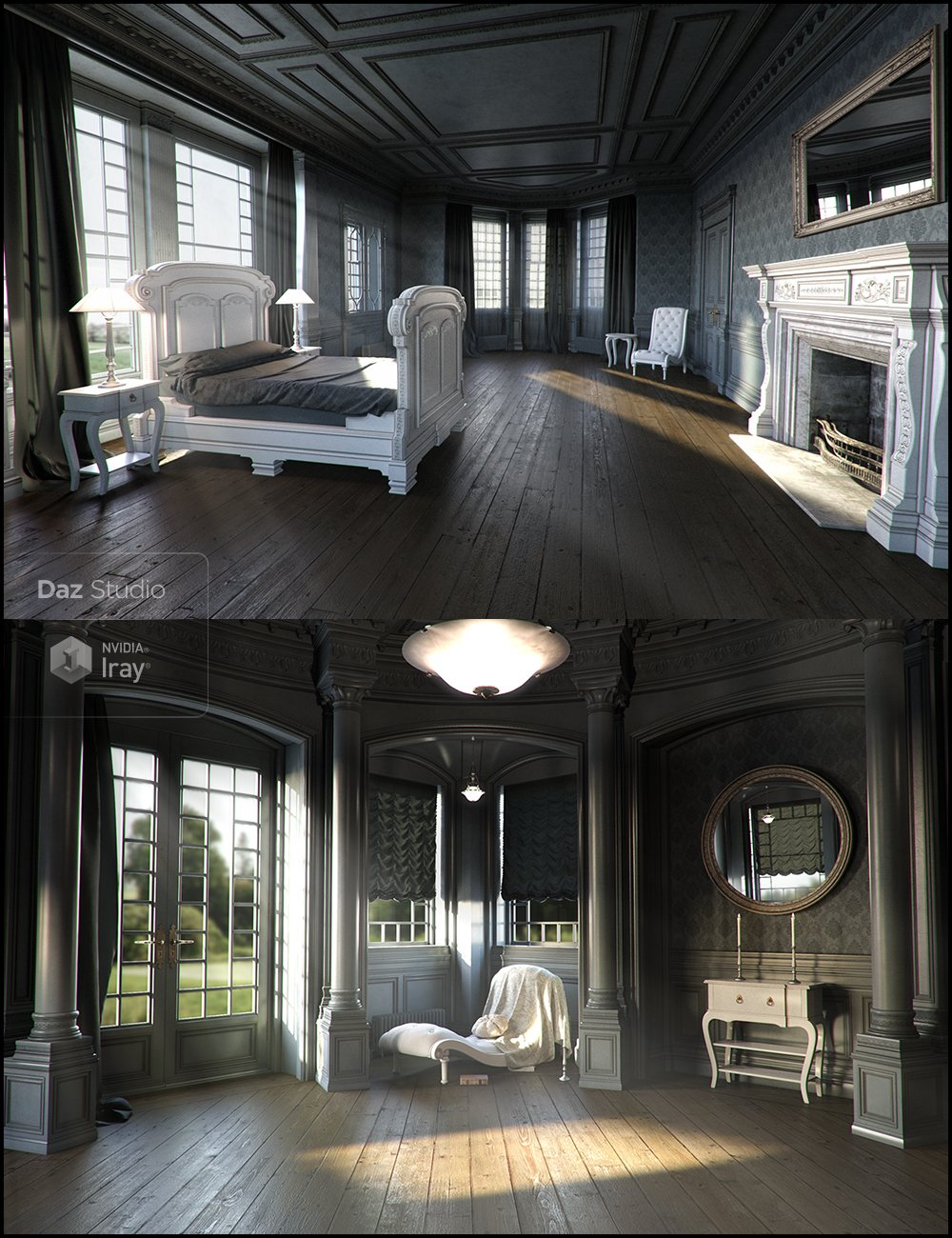 Neoclassical for Rural Chateau I - III by: Jack Tomalin, 3D Models by Daz 3D