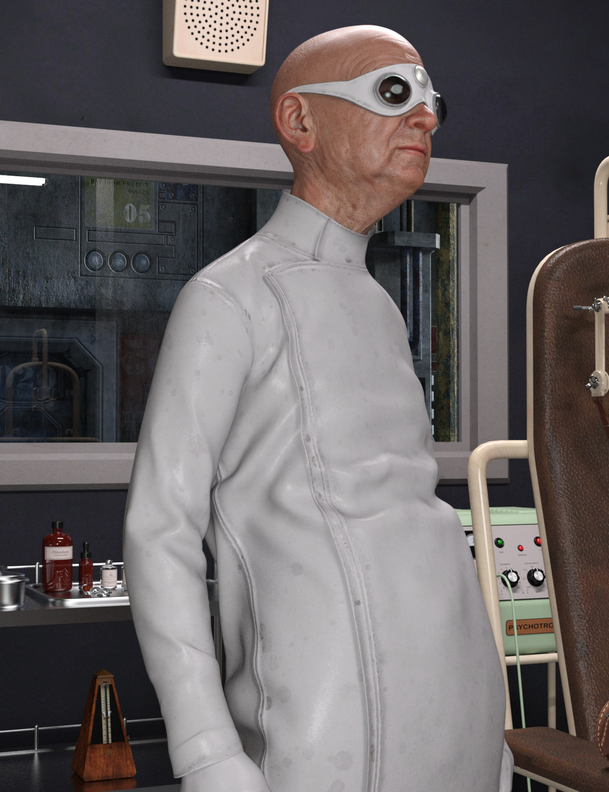 Mad Scientist Outfit for Genesis 8 Male(s) by: Oskarsson, 3D Models by Daz 3D