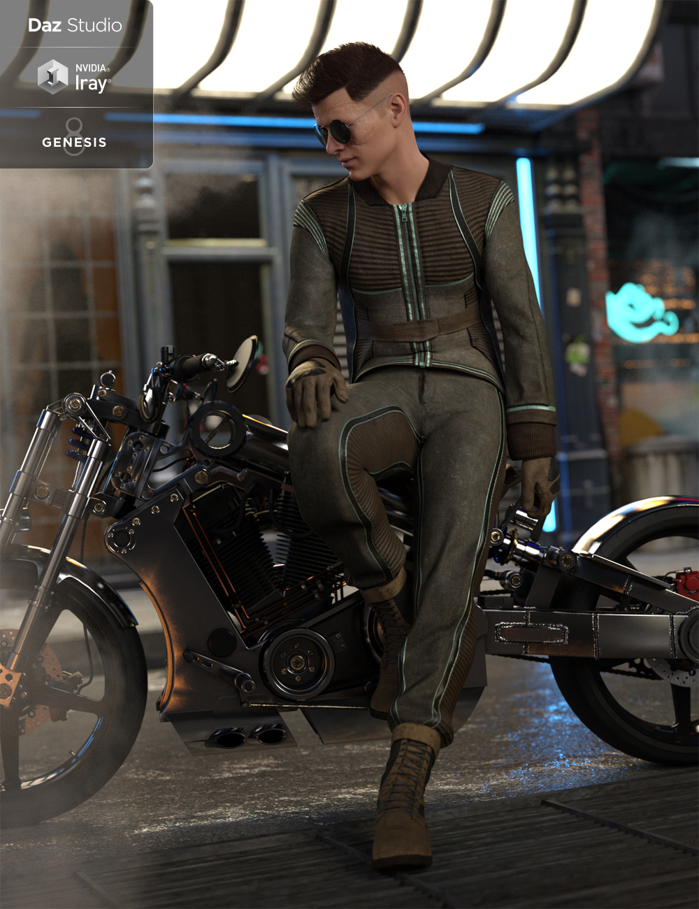 Intergalactic Spy Outfit for Genesis 8 Male(s) by: LuthbellinaNikisatez, 3D Models by Daz 3D