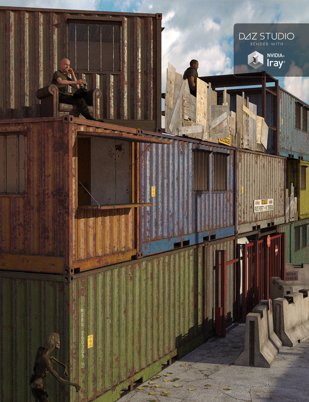 Survival Container Stronghold by: ile-avalon, 3D Models by Daz 3D