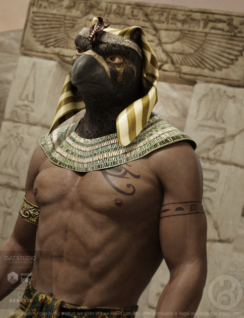 Ancient Horus for Genesis 8 Male by: RawArt, 3D Models by Daz 3D