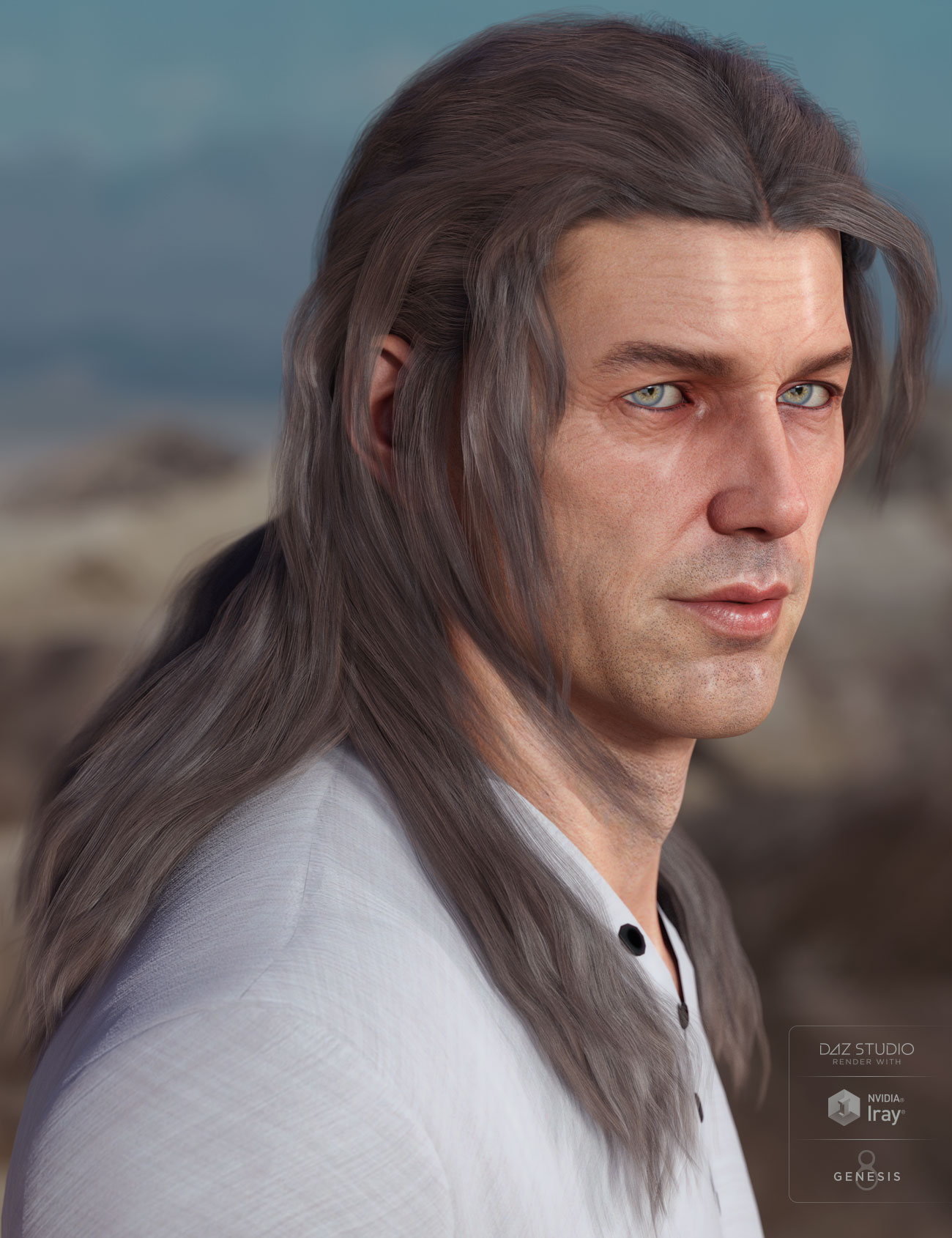 Orson Hair for Genesis 3 & 8 Male(s) by: AprilYSH, 3D Models by Daz 3D
