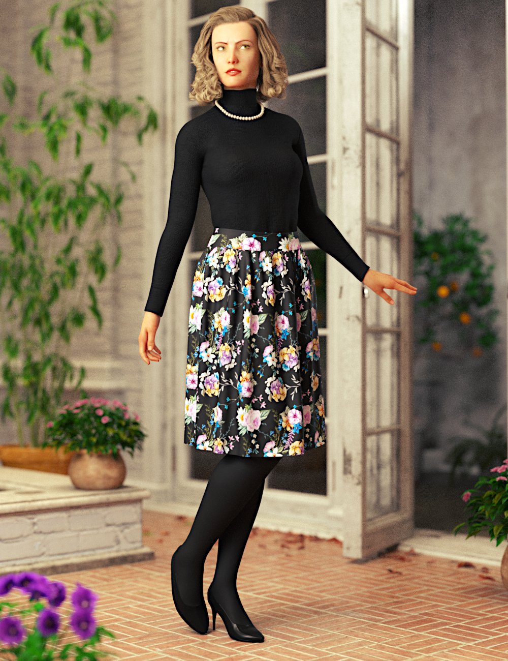 dForce Margita Outfit for Genesis 8 Female(s) by: Toyen, 3D Models by Daz 3D