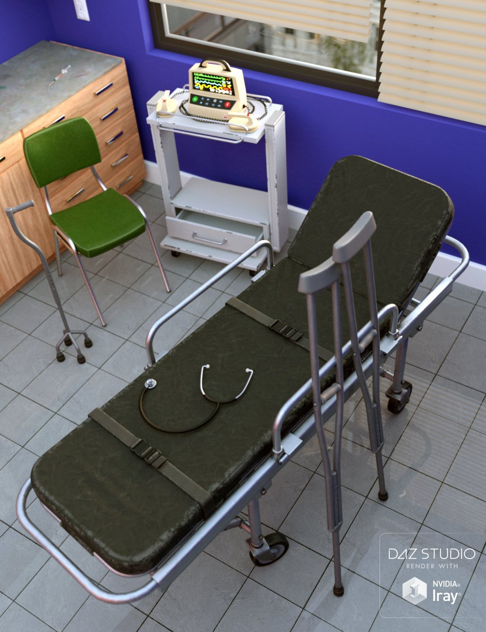 Emergency Room Props by: DianePredatron, 3D Models by Daz 3D