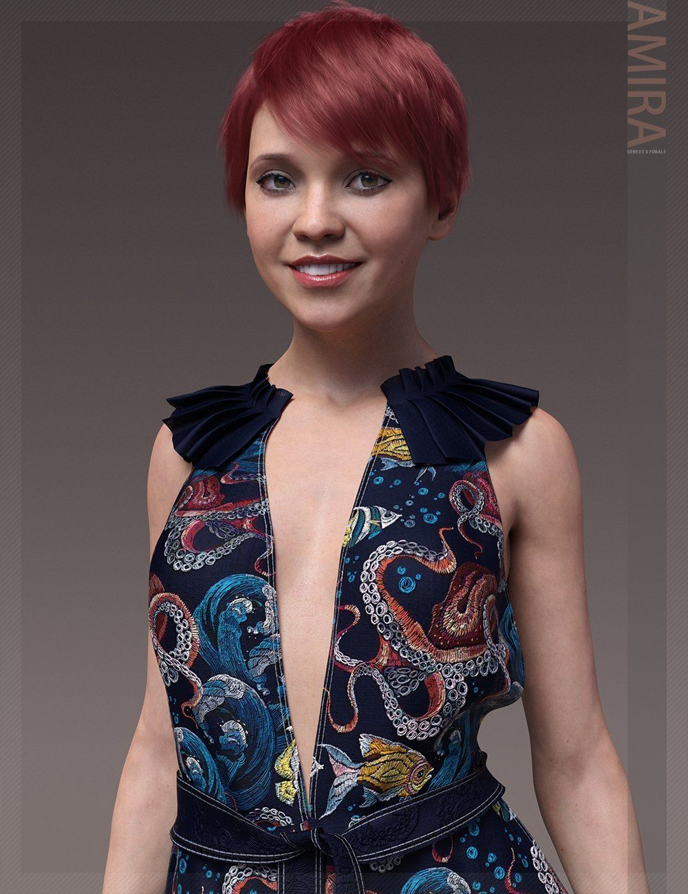 Amira HD & Expressions HD for Genesis 8 Female by: bluejaunte, 3D Models by Daz 3D