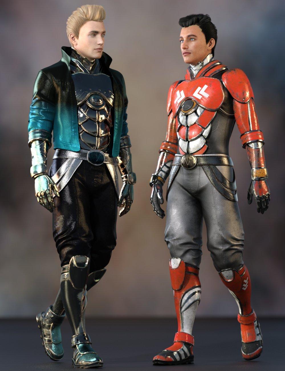 Noah Sci-fi Outfit for Genesis 8 Male(s) by: Yura, 3D Models by Daz 3D