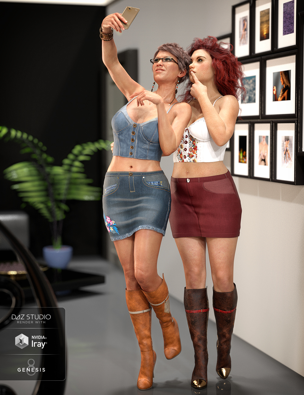 Sydney Denim Outfit Textures by: Moonscape GraphicsSade, 3D Models by Daz 3D