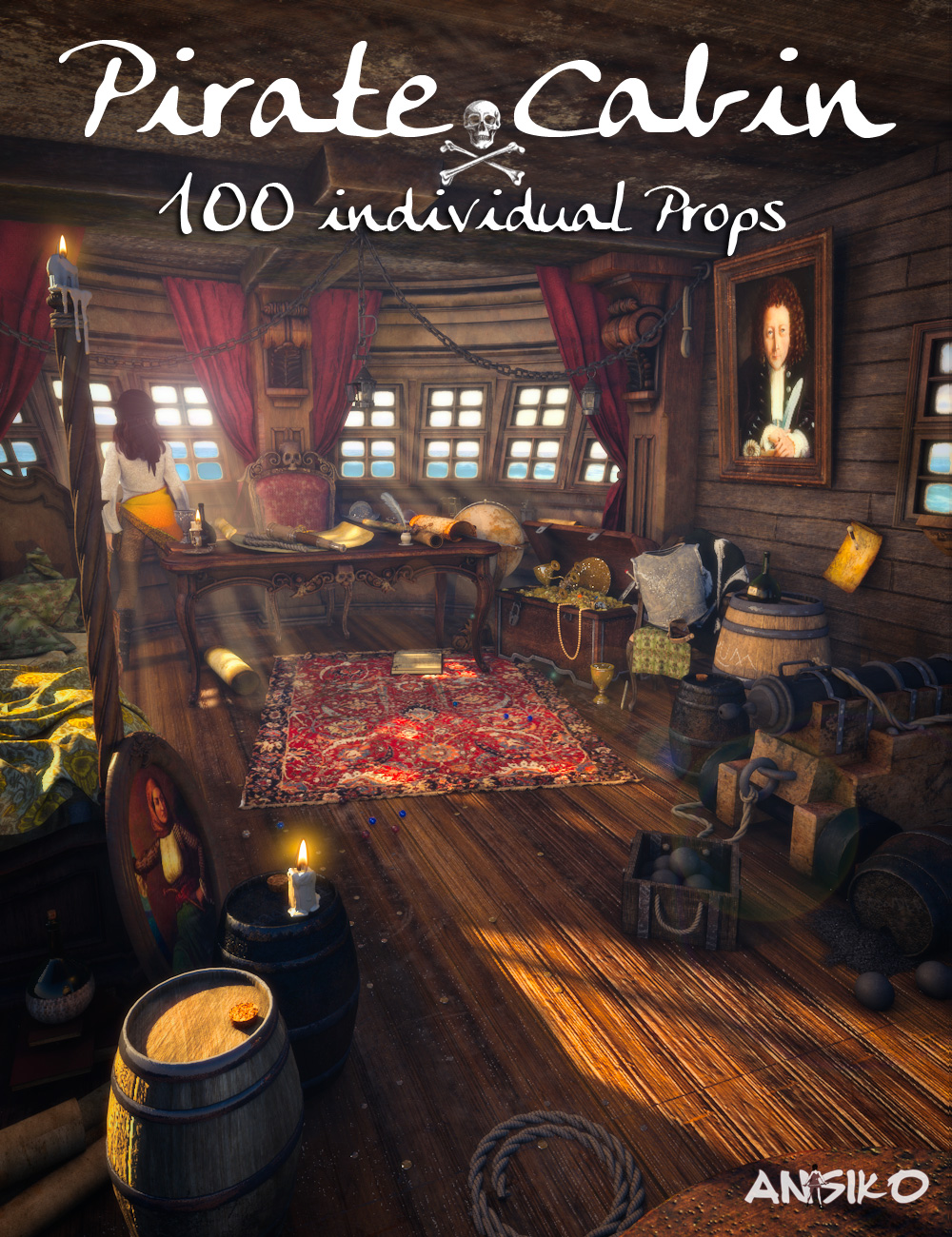 Pirate Cabin by: Ansiko, 3D Models by Daz 3D