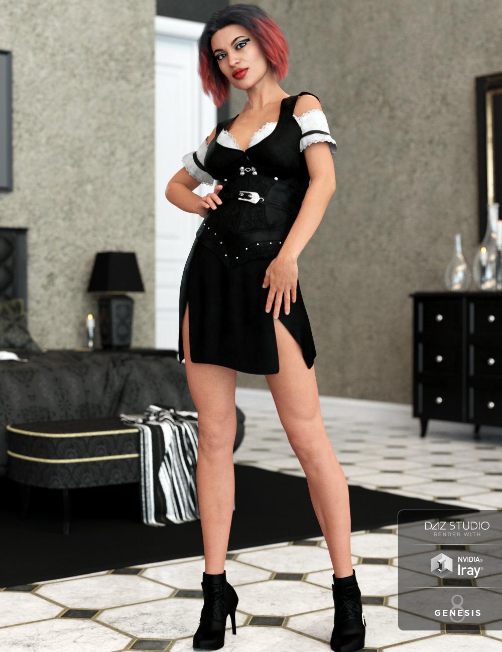 dForce Bellarose Outfit for Genesis 8 Female(s) by: Barbara BrundonShox-DesignUmblefugly, 3D Models by Daz 3D