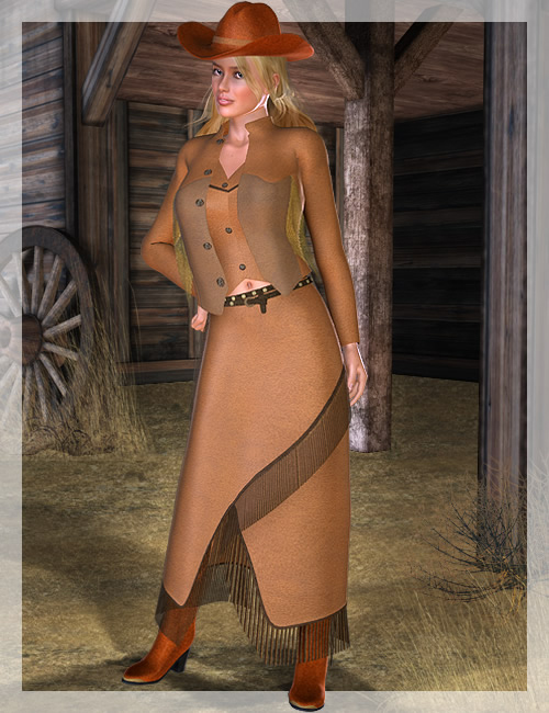 West Wild for Victoria 4 by: Ravenhair, 3D Models by Daz 3D