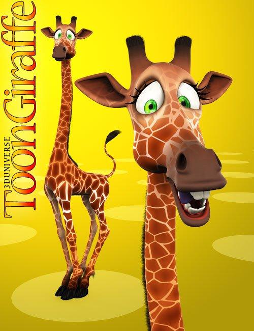3D Universe - Toon Giraffe by: 3D Universe, 3D Models by Daz 3D