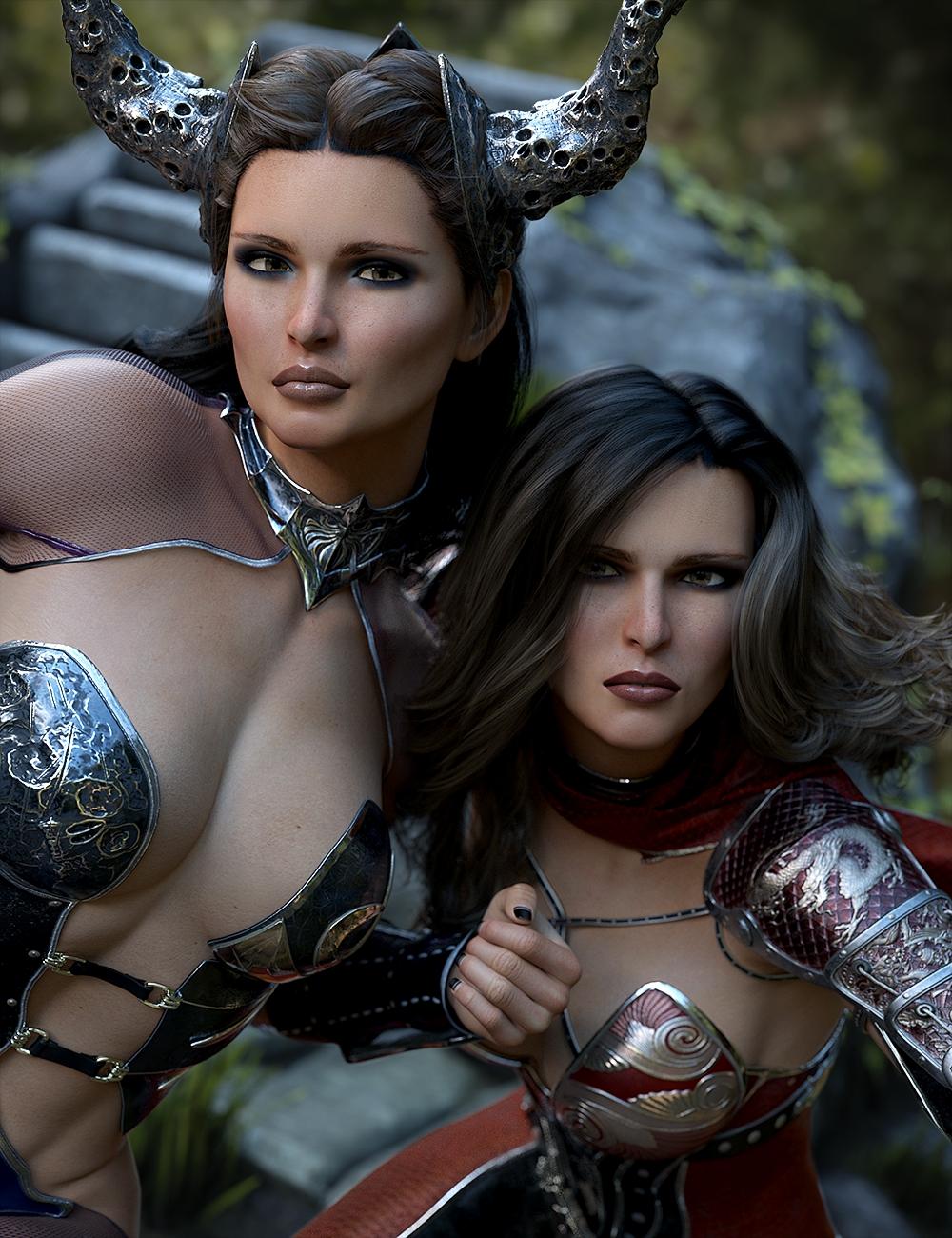 Domino HD for Genesis 3 & 8 Female by: Lyoness, 3D Models by Daz 3D