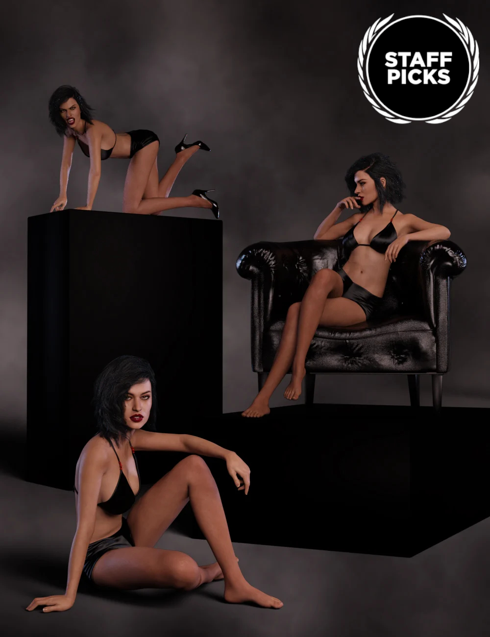 Temptation for Tasha 8 and Genesis 8 Female by: lunchlady, 3D Models by Daz 3D
