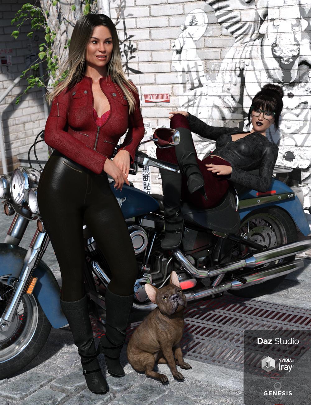 Moto Vixen Outfit Textures by: Anna Benjamin, 3D Models by Daz 3D