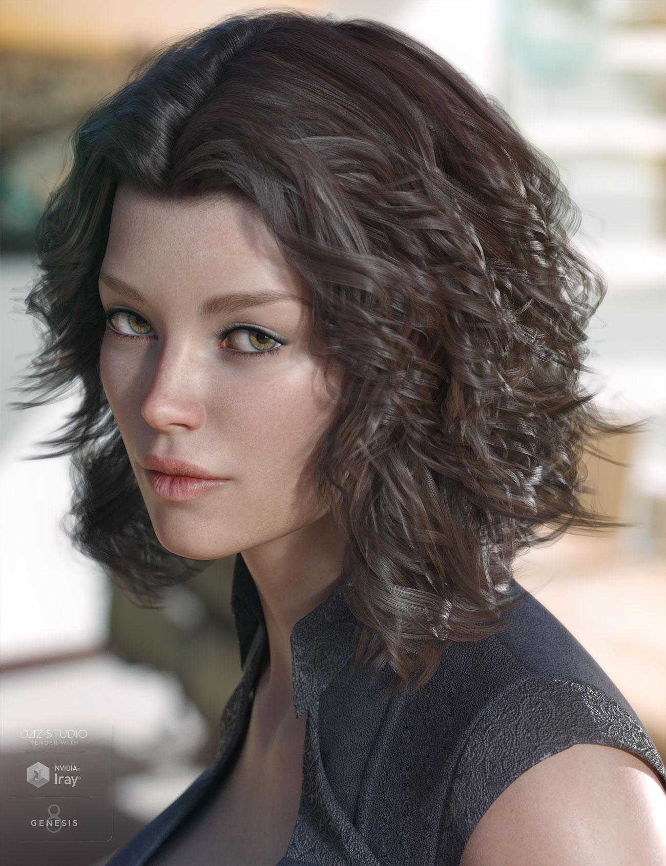 Caleela Hair for Genesis 3 & 8 Female(s) by: AprilYSH, 3D Models by Daz 3D