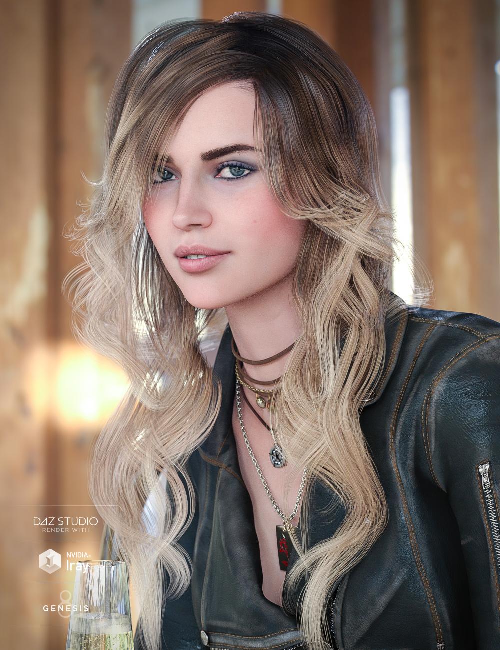 Cafe Curls for Genesis 8 Female(s) by: goldtassel, 3D Models by Daz 3D