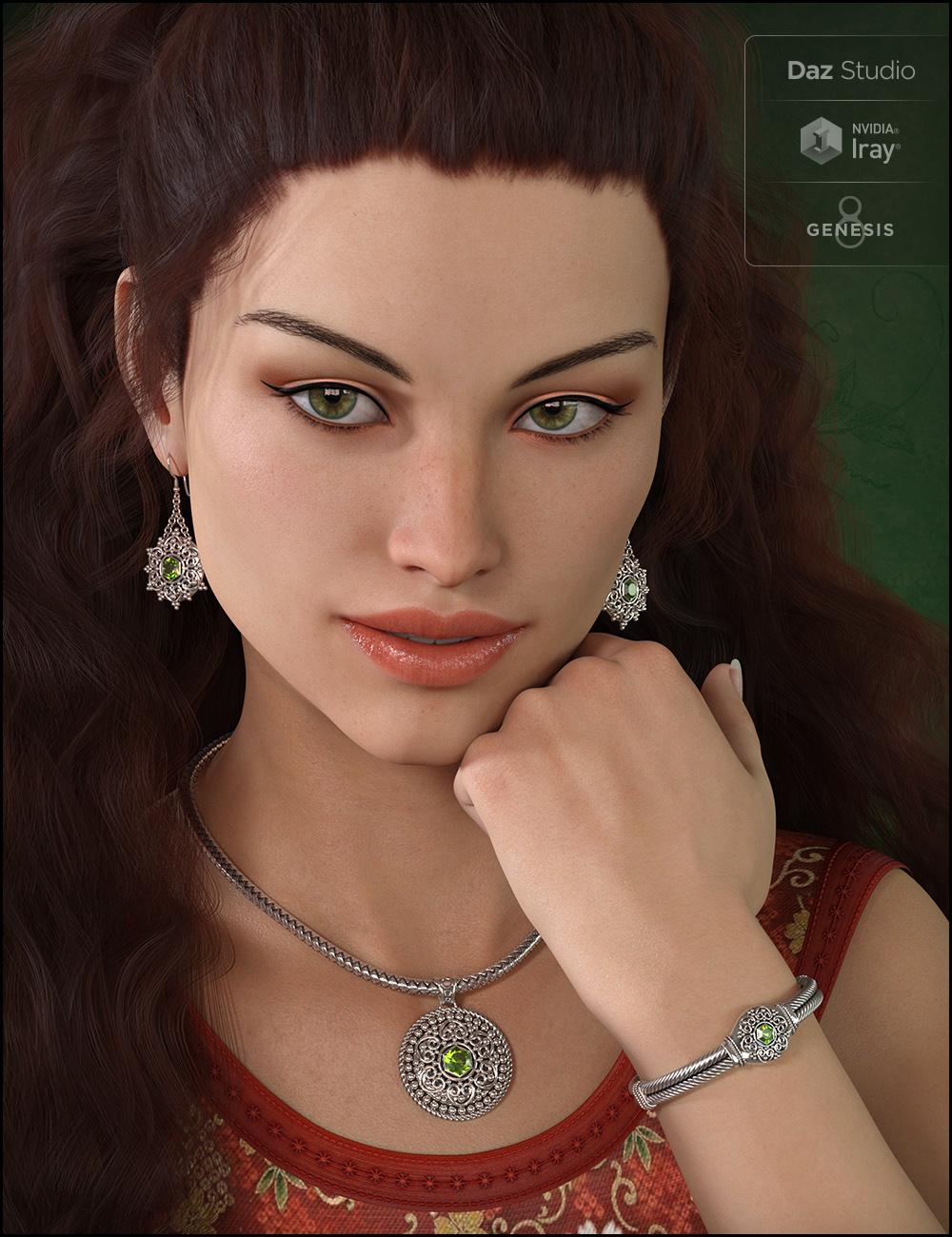 Bali Jewelry for Genesis 8 Female(s) by: Fisty & Darc, 3D Models by Daz 3D