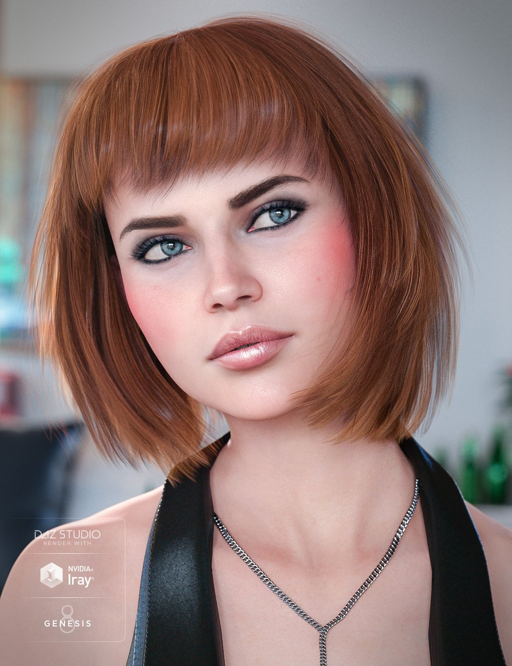 Coco Hair for Genesis 8 Female(s) by: goldtassel, 3D Models by Daz 3D